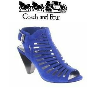 Coach and Four Kellisa Sandal in Colbalt Blue